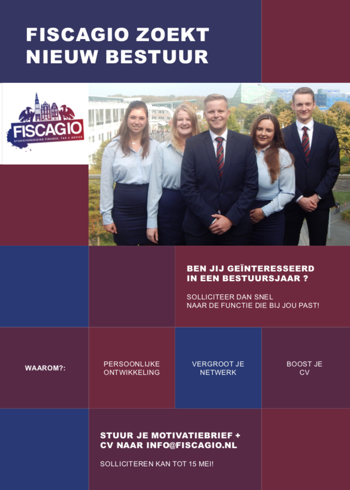 Fiscagio zoekt nieuwe bestuur
