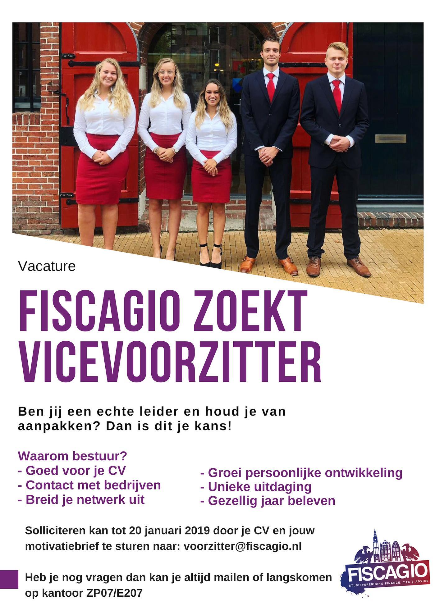 Fiscagio zoekt Vicevoorzitter!